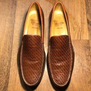 allen edmonds size 10 positano brown slip on